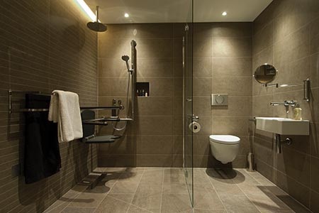 Using design principles in accessible bathrooms