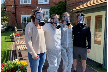 Cam Lock trials filtration masks at Surrey care home