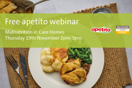 Apetito opens registration for malnutrition in care homes webinar